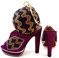 New Fashion African Shoe And Bag Set For Party Italian Shoe With Matching Bag New Design Ladies Matching Shoe And Bag  ! WTT1-16