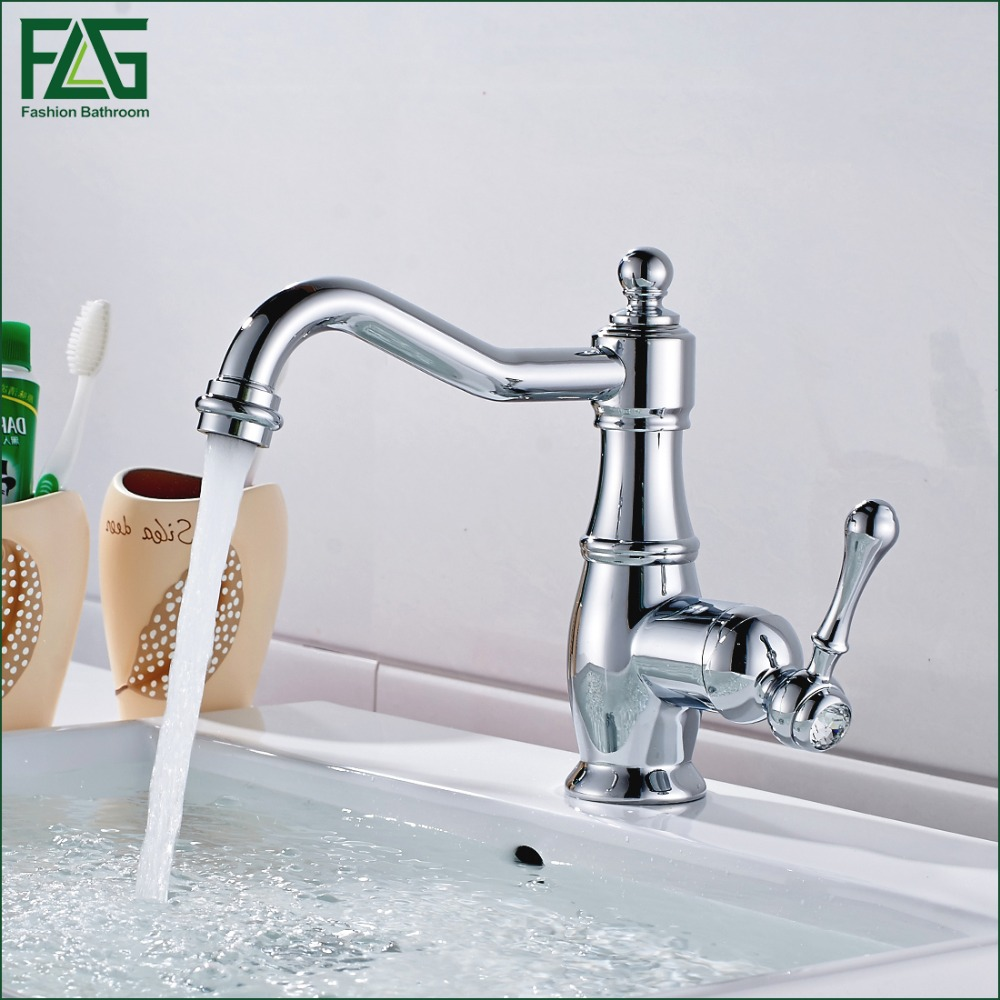 FLG Free Shipping New Deck Mounted Brass Faucet Bathroom Basin Sink Mixer Tap Chrome Faucet Bath Mixer Bath Faucet Robinet M267 free shipping high quality chrome finished brass in wall bathroom basin faucet brief sink faucet bf019