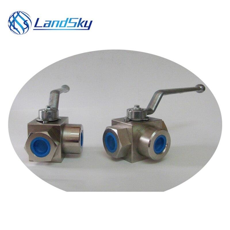 high pressure NPT1/4 threaded 3 way ball valve industrial valve suppliers three way ball valve manufacturer port NPT1/4 Valves & Parts     - title=
