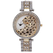 Brand quartz watch Leopard Luxury Sparkling Crystal Diamond Watches Women Casual Gold Quartz Watch Women Female Clock Fashion