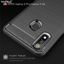 Case Oppo Realme 3 Pro Case Tough Bumper Carbon Fiber Cover For Oppo Realme X Lite Cover Realme 3 Pro Shockproof Silicone Case for oppo realme 3 pro case leather wallet full protection shockproof flip stand cover oppo realme 5 pro case card slot luxury