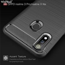 Case Oppo Realme 3 Pro Tough Bumper Carbon Fiber Cover For X Lite Shockproof Silicone