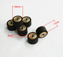 2pc 3X11X16mm Mimaki Vinyl Cutter Copper Core Pinch Roller Cutting Plotter Wheel Paper Press Rubber