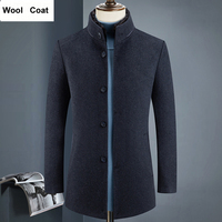Excellent Quality Real Fur Collar Cashmere Coat Men