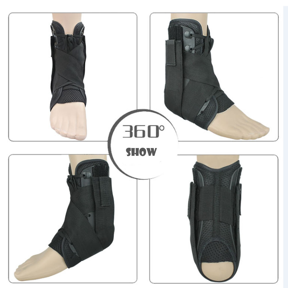 1 Pair Ankle Braces For Ankle Sprained Sports Support Tennis Bastetball Football Badminton Running Medical Laced Up Ankle Braces