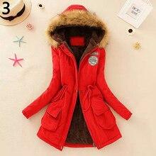 Fashion Winter Warm Women Cotton Faux Fur Hooded Jacket Slim Coat Parka Outwear