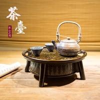 Japanese tea ceremony nature handmade bamboo weaving tea set basket lacquer tea tray plate Chinese Kung Fu teapot table