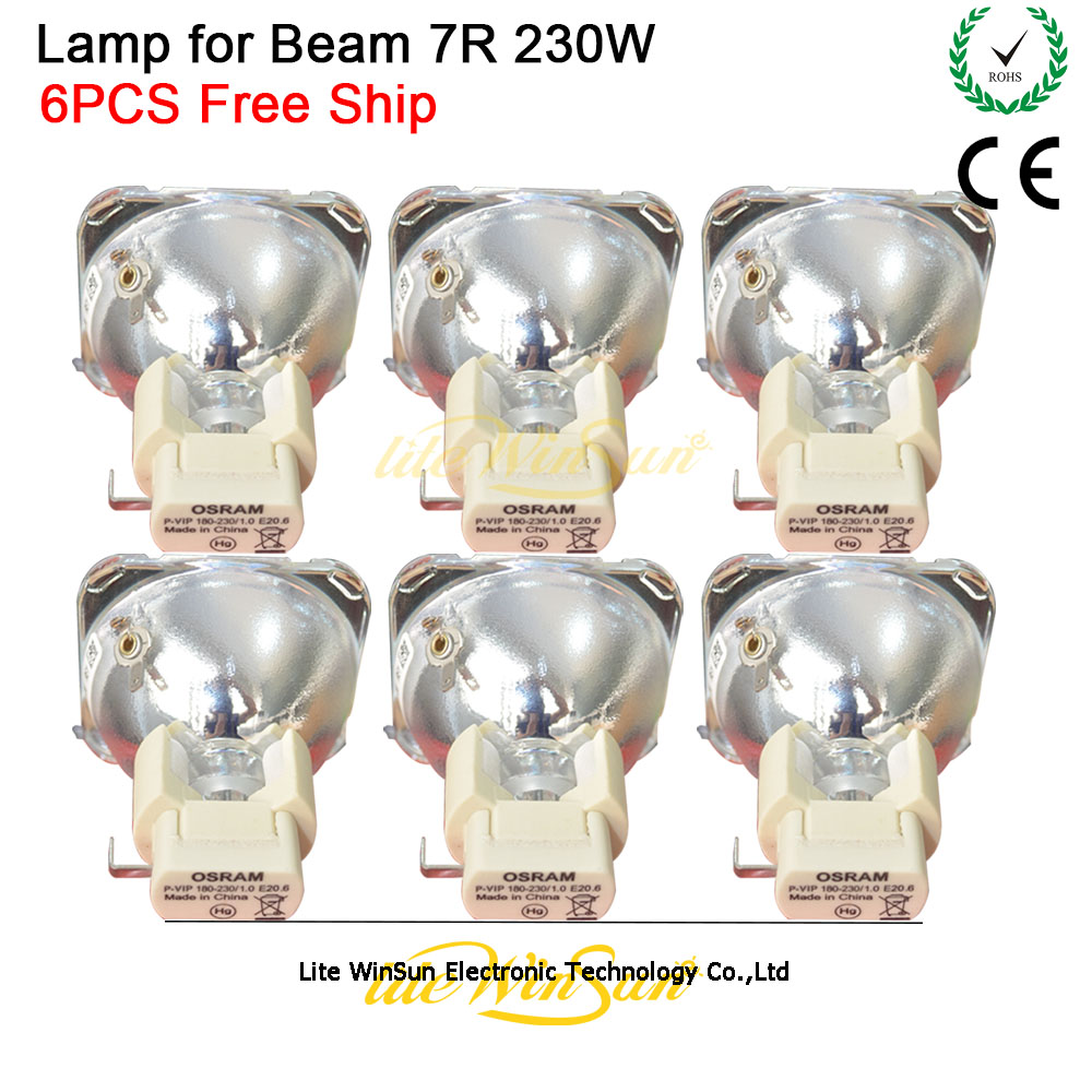 Litewinsune Free Ship New 7R 230W Lamp Source Project Lamp Bulb Sharp Beam R7 230W Lighting Replacment Lamp