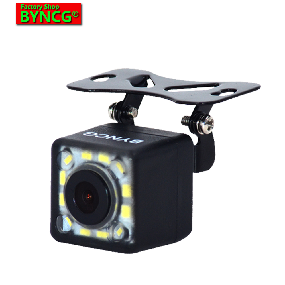 Car Rear View Camera BYNCG 2018 NEW 12 LED Night Wide View Angle Parking Assistance Car Camera Universal Waterproof HD CCD