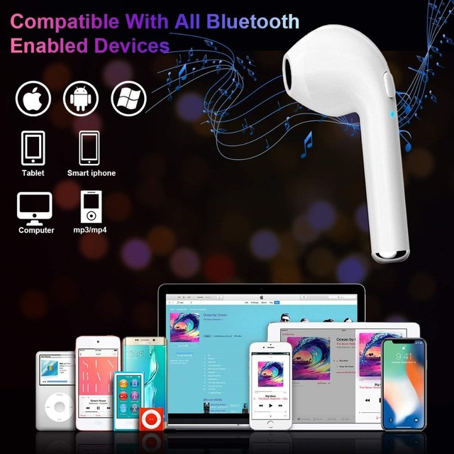Bluetooth headset i7s tws i9 Hands free stereo Earbud earphone with mic Double earpiece for iphone 8 Samsung xiaomi