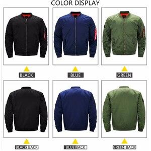 Image 3 - Chaqueta de uniforme de seguridad para hombre, chaqueta de vuelo cálida con cremallera, abrigo grueso de invierno, prendas de vestir, talla de EE. UU.