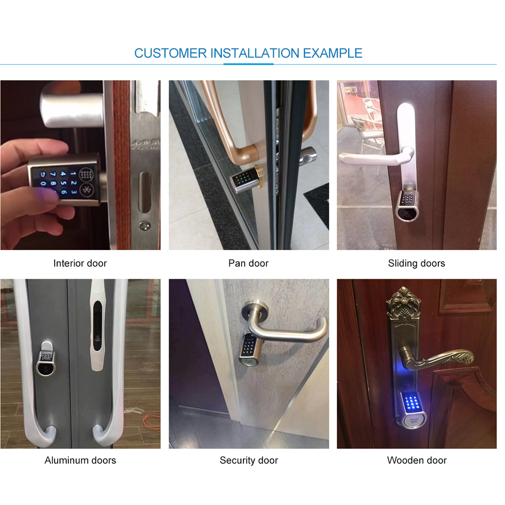 L6pcb Electronic Door Lock Combination Safety Keypad Cylinder For Airbnb Apartment Eu Model