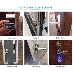 Image 5 - L6PCB Elektronische Deurslot App Combinatie veiligheid lock keypad Cilinderslot voor Airbnb Appartement EU Model