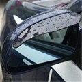 2 pçs/lote PVC Espelho retrovisor etiqueta Do Carro weatherstrip auto espelho Chuva Escudo chuva sobrancelha sombra guard protector capa