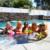 12 pcs suporte da bebida coasters flamingo palm tree decorações da festa de piscina inflável nadar flutua