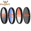 KnightX 52 мм 58 ММ 67 ММ Окончил Цвет ND CPL UV Фильтра Объектива комплект для Nikon canon D3300 D5300 D5200 D3100 D3200 D5100 SLR камера