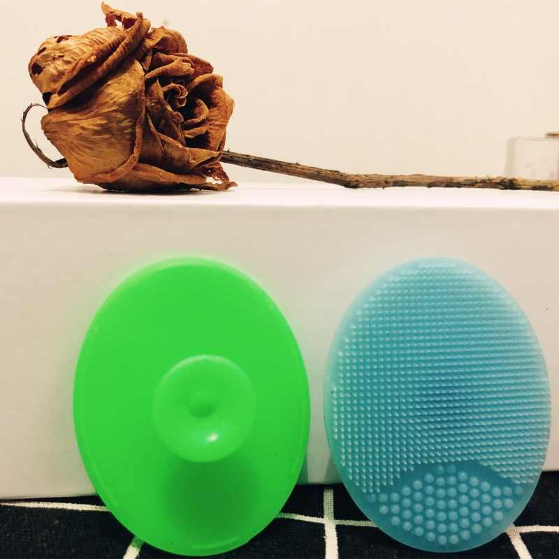 ミニソフトシリコーン洗顔ケア洗濯剥離にきびブラシスキンスパスクラブパッドマッサージツール