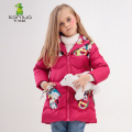 2016 Cat Printing Girls Winter Coats And Jackets Kids Outwear Warm Down Jacket Girls Clothes Parkas Children Baby Girls Clothing