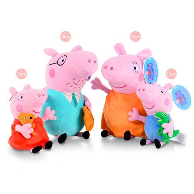 Pçs/set 4 Peppa Pig Brinquedos de Pelúcia George Enchimento De Pelúcia Bonecos de Pelúcia Brinquedo Macio Brinquedo De Pelúcia Com Chaveiro para o Aniversário Das Crianças presente