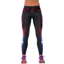 High Waist Women Sportswear Fitness Yoga Pants font b Sports b font Printed Stretch Cropped Leggings