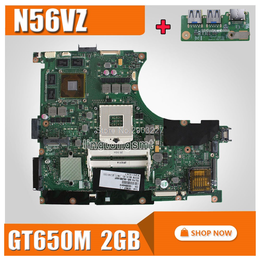 For Asus N56VB Motherboard N56VM Rev2.3 Mainboard GT740 2GB 989 Scoket DDR3