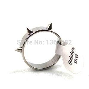 Крутые мужские и женские кольца в стиле панк из нержавеющей стали серебристого цвета, конические кольца заклепки с шипами, подарок YR46