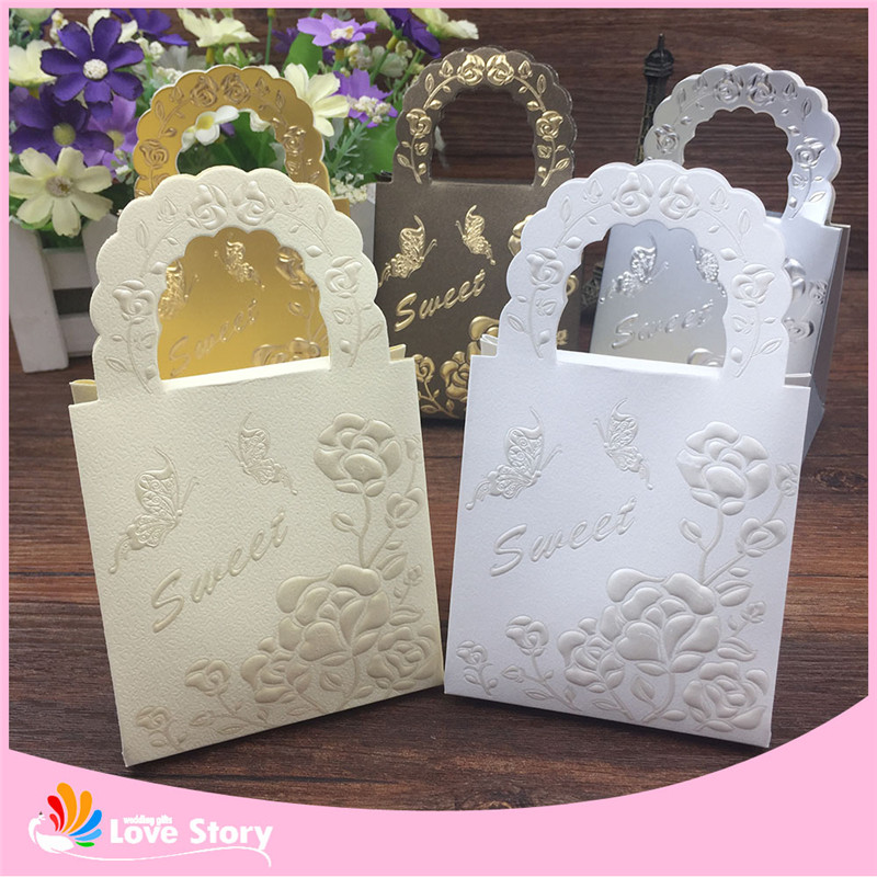 25pcs Flower Candy Bags Chocolate Packaging Butterfly Sweet Candy