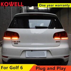 Image 3 - KOWELL Car Styling for VW GOLF 6 MK6 GOLF6 R20 TAIL Lights LED Tail Light LED Rear Lamp DRL+Brake+Reversing+Signal  assembly