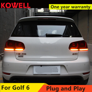 Image 3 - KOWELL 자동차 스타일링 VW 골프 6 MK6 GOLF6 R20 테일 라이트 LED 테일 라이트 LED 후면 램프 DRL + 브레이크 + 반전 + 신호 어셈블리
