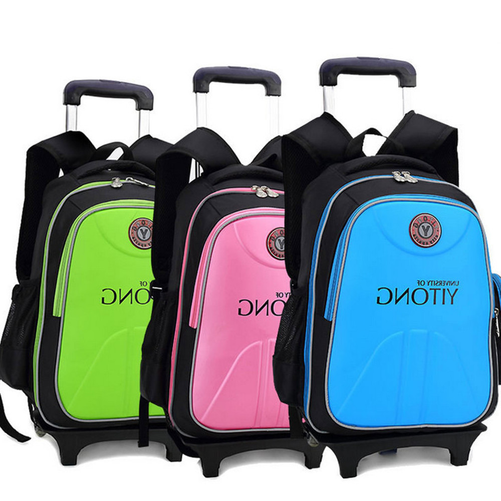 High Quality Children Backpack Kids Casual Detachable Trolley School bags  Boys Girls Shoulder Backpack Mochila Infantil Escolar bf50acf239