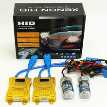 HID комплект HB3 9005 hb4 9006 ксенон h1 H3 H7 H11 Авто 55 Вт светодиодный фонарь с цифровым светодиодным экраном комплект ballast HID