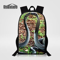 Dispalang Personalized Design Snake School Bags For Elementary Students Animal Bookbags For Boys Kids Daily Backpacks