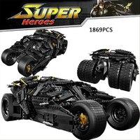 DC Comic Movie Deluxe Figures Batman THE DARK KNIGHT Batmobile Building Block Joker Minifigures Compatible Withlego
