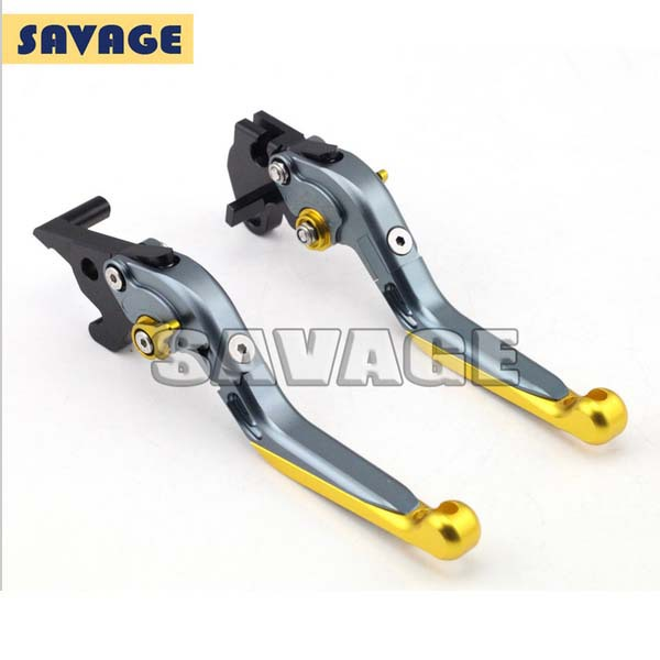 Motorcycle Accessories CNC Aluminum Folding Extendable Brake Clutch Levers For YAMAHA YZF-R25 2014-2015, YZF-R3 2015  Golden