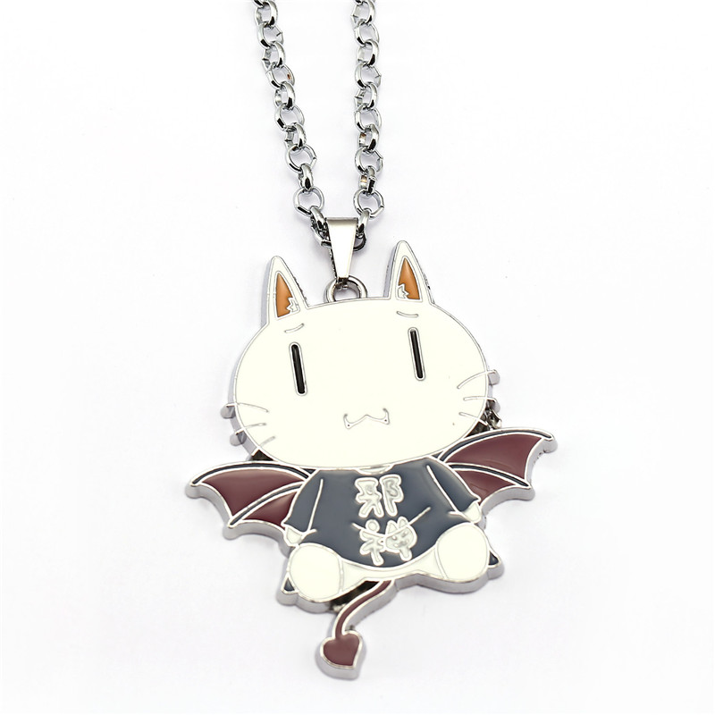 ORNAPEADIA Anime Cartoon products GONZO with white cats and necklace pendant for gril gift wholesale