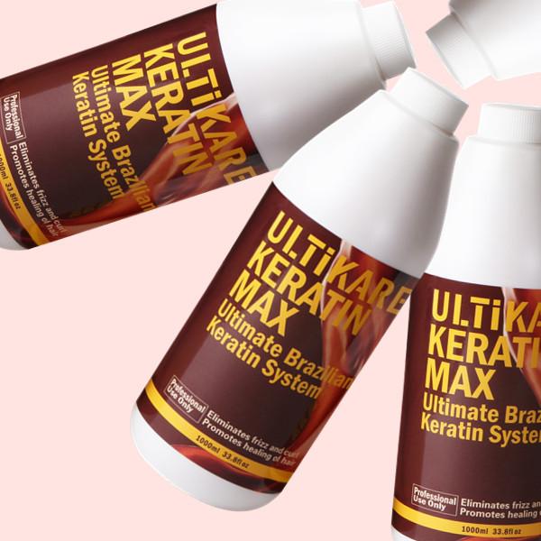 1000 ml formalina tratamiento del cabello queratina Brasileña 5% enderezador y tratamiento para el cabello dañado 16 unids un lote