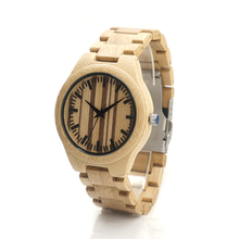 BOBO BIRD H19 Naturally Mens Minimalism Luxury Unique Bamboo Wooden Watches With All Wood Bamboo Straps