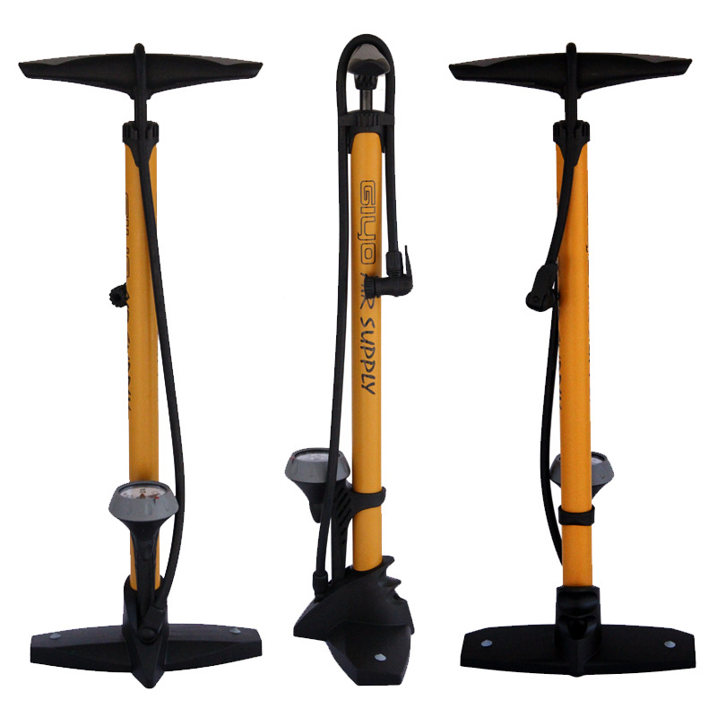 Pompe de plancher de vélo jauge Presta Schrader adaptateur de Valve 160Psi pied cyclisme pompe à vélo gonfleur d'air pompe à pneu route vtt pompe à vélo 4