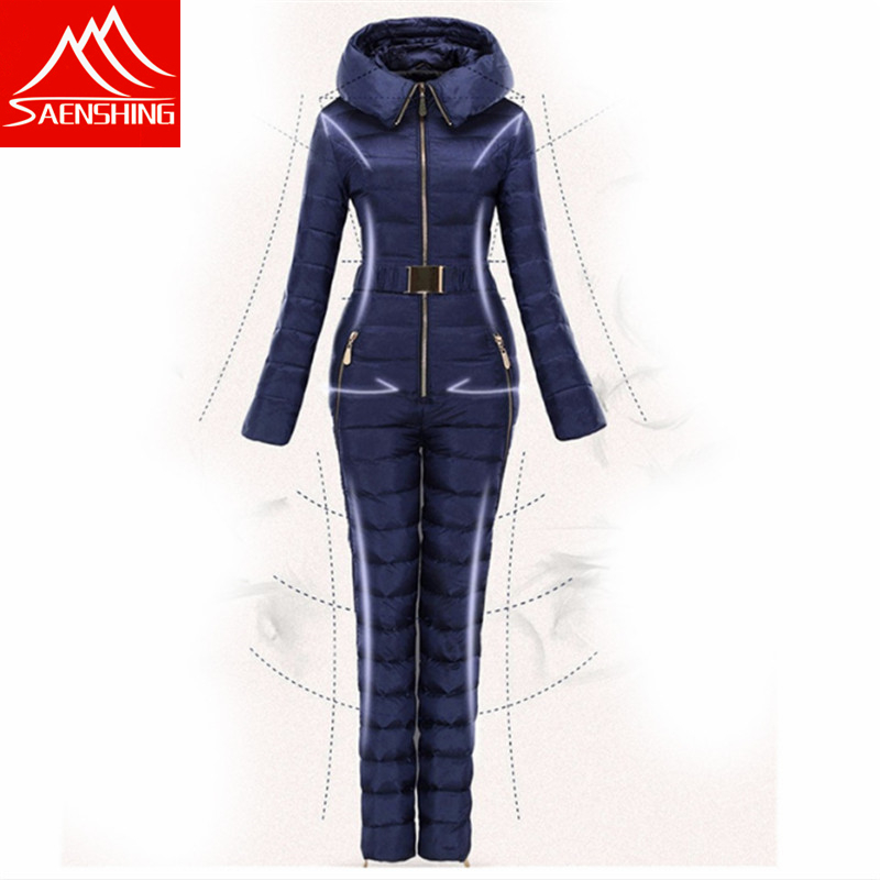 Free Shipping New  Winter Clothing Set Outerwear High Quality Ski Suit Women Skiing Conjoined Outdoor Female Down Ski Suits