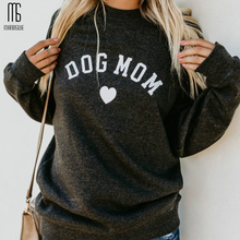 Harajuku Prints Long Sleeve Hoodies Crew Neck  Letter Chic Women Casual O-neck Sweatshirt Dog Person Fashion Outfits Pullover цена