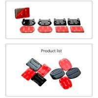 Клейкие крепления для GoPro 8 7 6 5 4 изогнутые плоские крепления 3 м липкие прокладки для Go Pro Xiaomi Yi SJCAM Экшн камеры шлем доска автомобиля 2