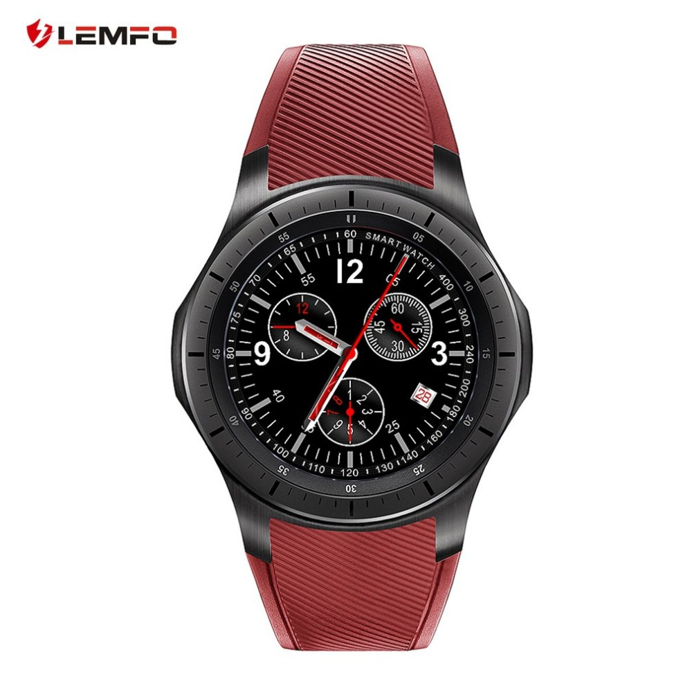 Original LEMFO LF16 Android 5.1 Smart Watch 1.39 inch OLED Screen MTK6580 512MB+8GB Bluetooth Watch Heart Rate Reloj Inteligente smart baby watch каркам q50 oled голубые