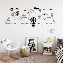 все цены на Beauty Mount Balloon Wall Sticker Pvc Wall Art Stickers Fashion Wallstickers For Living Room Background Decoration онлайн