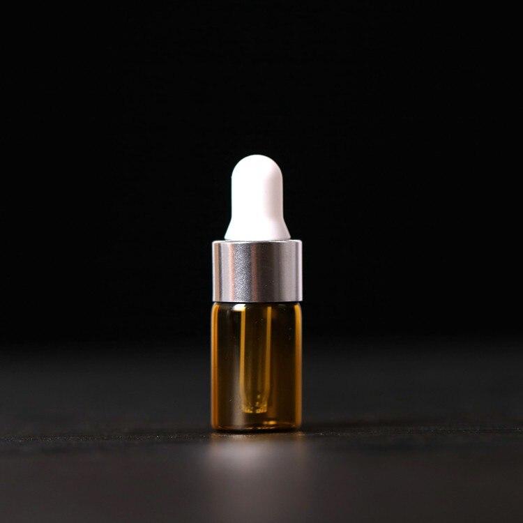 500 pcs/lot 1 ml 2 ml 3 ml 5 ml flacon compte-gouttes en verre ambré Mini bouteille d'huile essentielle en verre avec flacons en verre de tuyau en verre