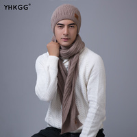 2017 YHKGG New Fashion Women And Man Thick Warm Hat Scarf and Set Winter Hats Scarfs Sets Women's Hats