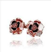 Czech Rhinestone Austria Crystal Flower Earring