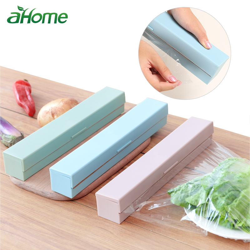 Stainless Steel Plastic Wrap Cutter Plastic Wrap Dispensers Kitchen Gadgets Preservative Film Cutter Kitchen Accessories