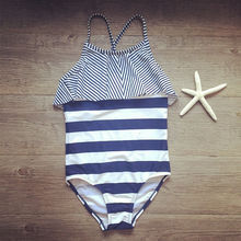 Falbala swimming suit striped children swimsuit girls one piece swimsuits of large sizes swimwear 2018 cute baby bathing suit 16