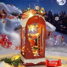 DIY Mini Houses for Doll LED Lamp Dollhouse Snow Christmas Diy Dollhouse Miniature Wood Toys Domek Dla Lalek Zabawki Dla Dzieci цена