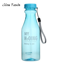 US $1.89 9% OFF|Water bottle Unbreakable Outdoor Sports Travel  botella de agua Portable Leak proof Cycling Camping Water garrafa 550ML-in Water Bottles from Home & Garden on Aliexpress.com | Alibaba Group